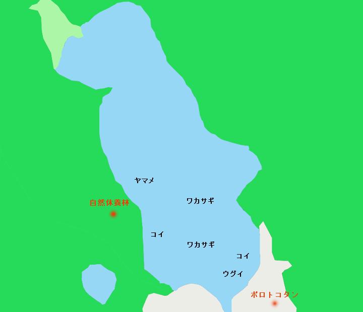 ポロト湖ポイント図