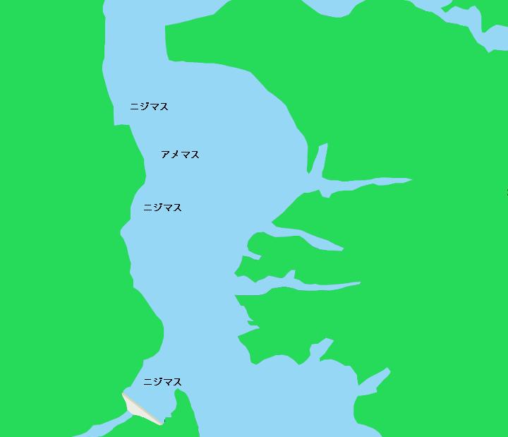 シューパロ湖ポイント図