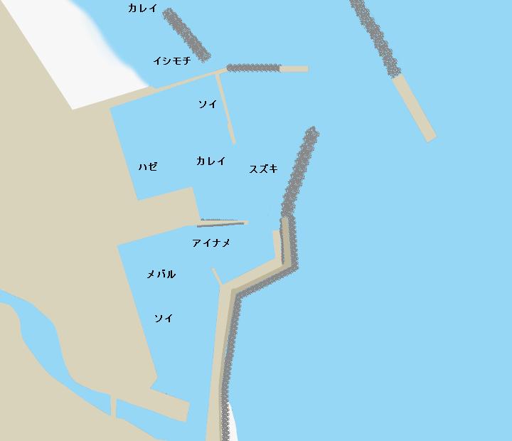釣師浜漁港ポイント図