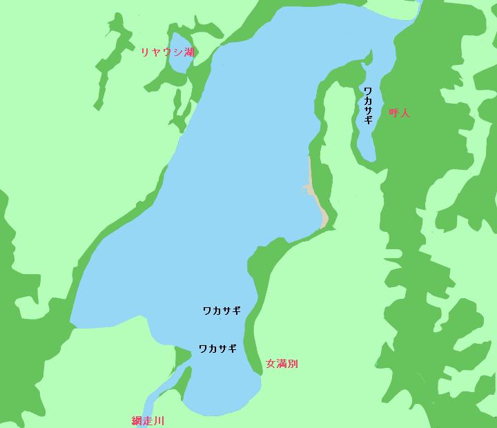 網走湖ポイント図
