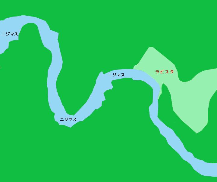 阿寒川 カムイの湯 ラビスタ阿寒川付近のポイント(C&R区間)