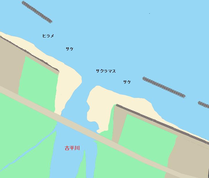 古平川河口のポイント