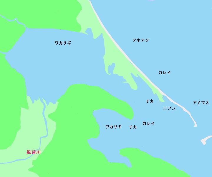 風蓮湖ポイント図