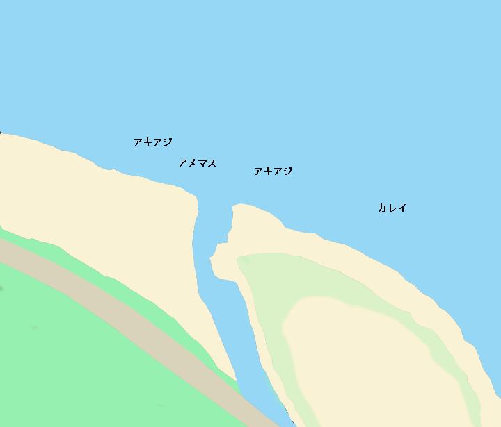 箸別川河口ポイント図