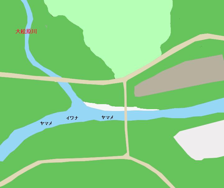 寒河江川大桧原川合流地点付近