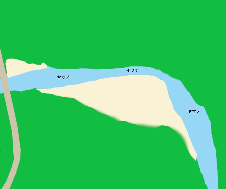 知内川大千軒橋周辺のポイント