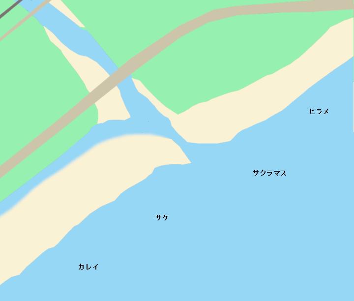 白老川河口のポイント
