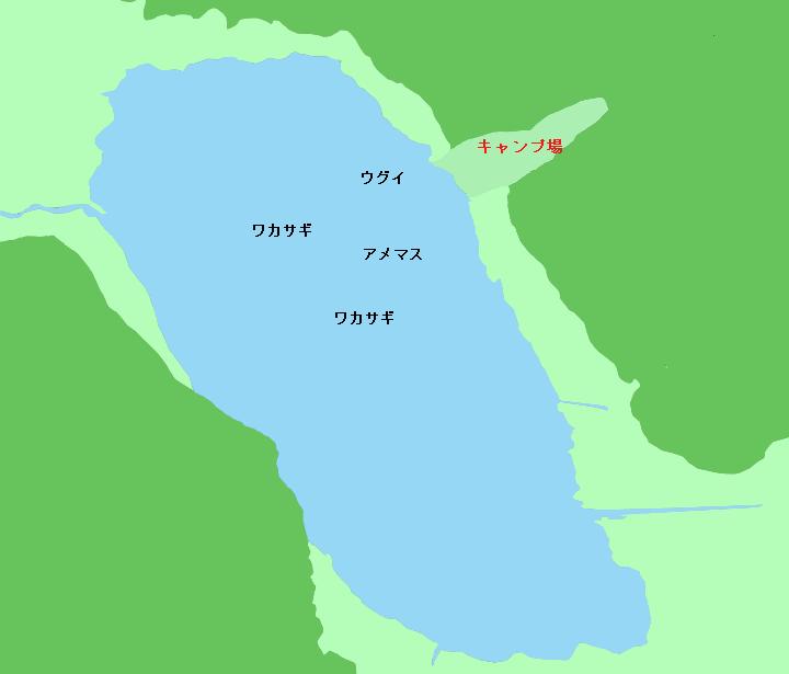達古武湖ポイント図