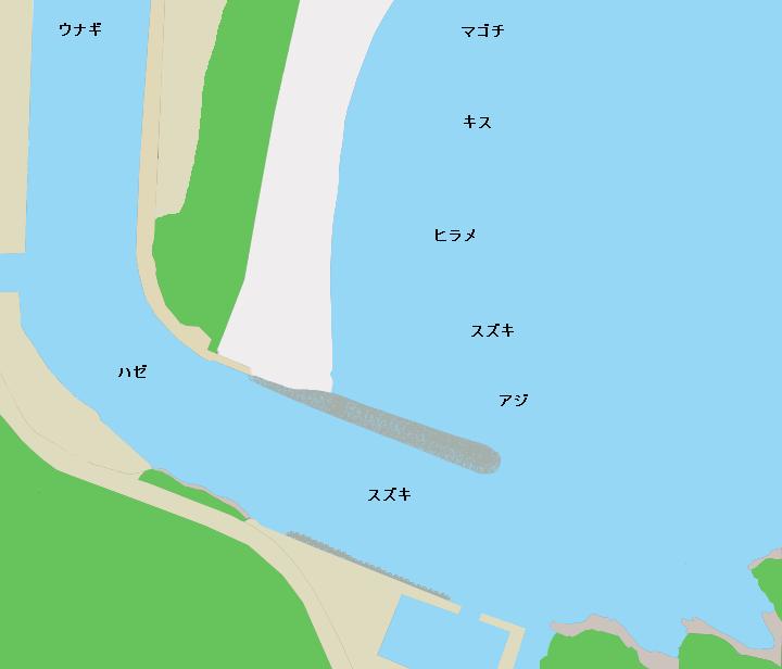 青野川河口のポイント
