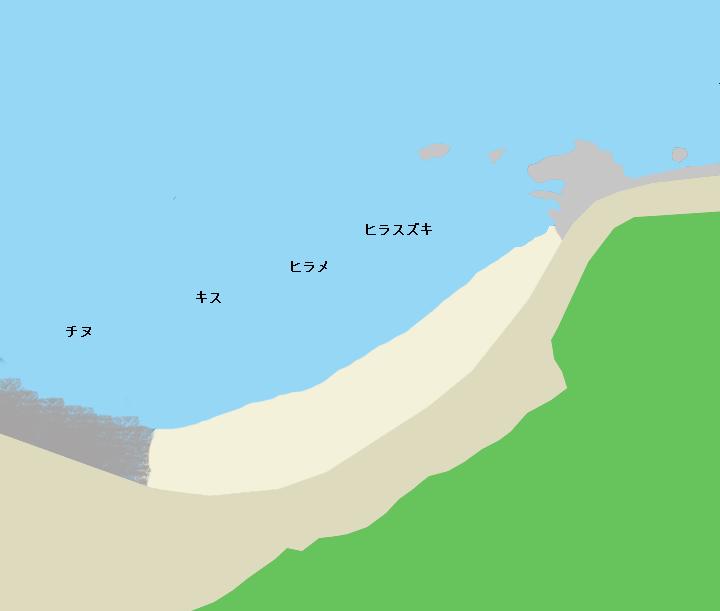 阿尾漁港周辺の海岸
