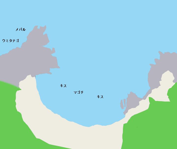 荒井浜ポイント図