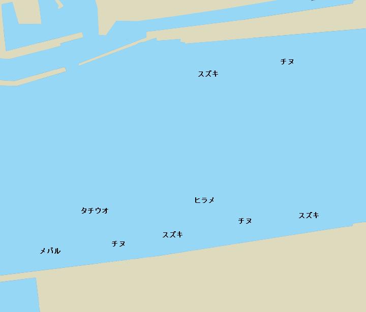 有田川河口ポイント図
