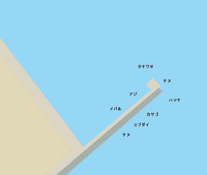 佐野新島北波止のポイント