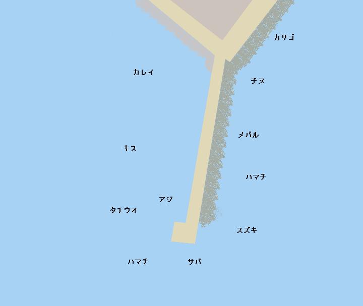 佐野新島南波止のポイント
