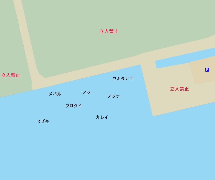 電源開発前護岸ポイント図