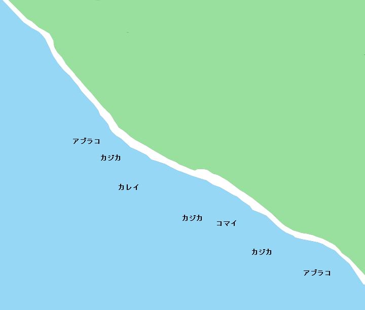 フィハップ海岸のポイント
