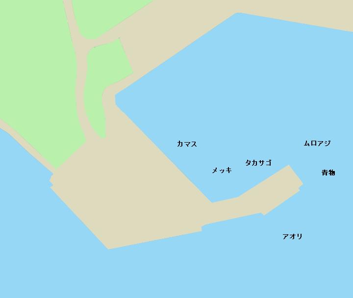 父島二見港青灯台堤防ポイント図