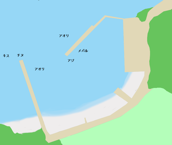 高知県須崎市野見湾蜂ケ尻のポイント