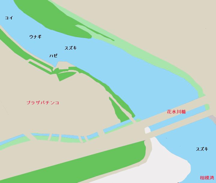 金目川(花水川)河口のポイント