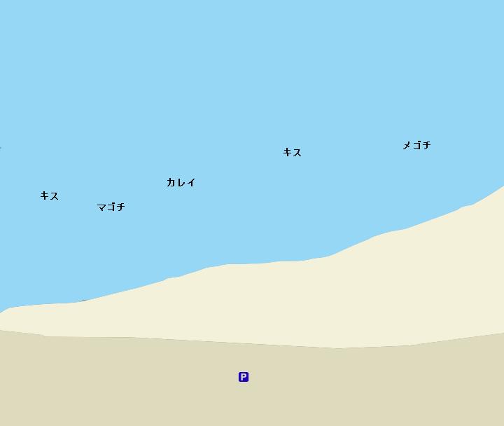走水海岸ポイント図