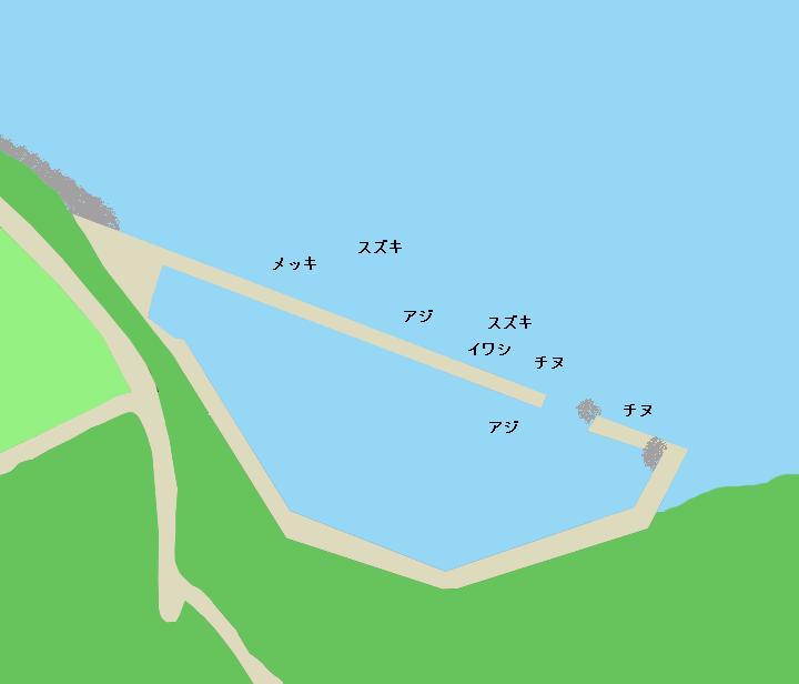 初崎漁港ポイント図