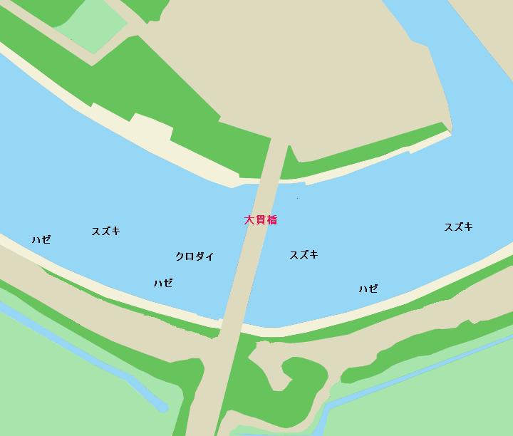 涸沼川大貫橋周辺のポイント