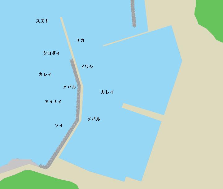 稲生漁港ポイント図