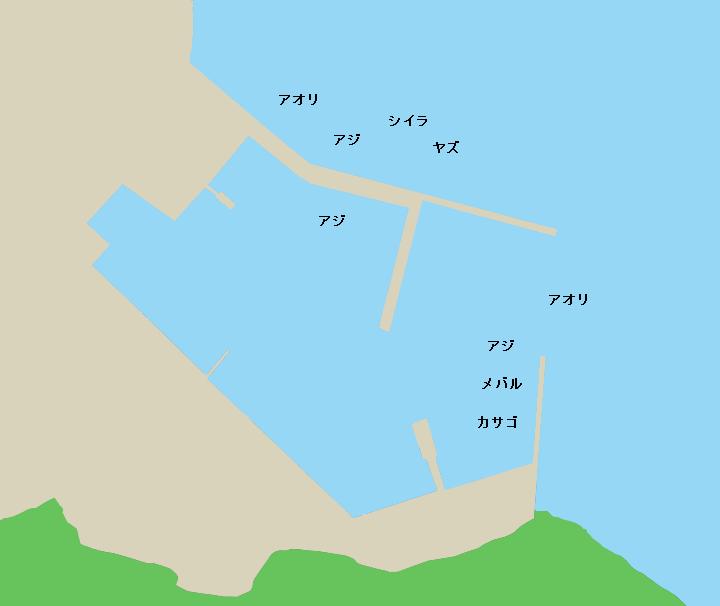 平戸市岩の上町白浜港のポイント
