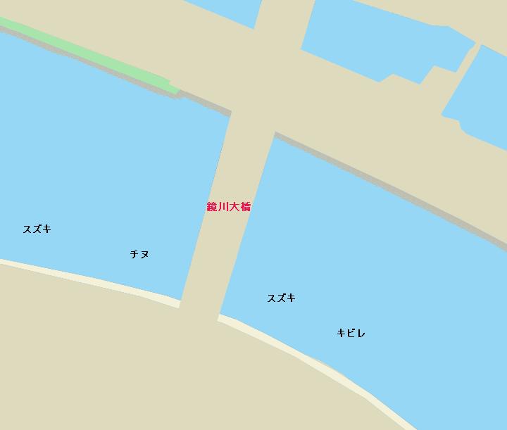 鏡川大橋周辺のポイント
