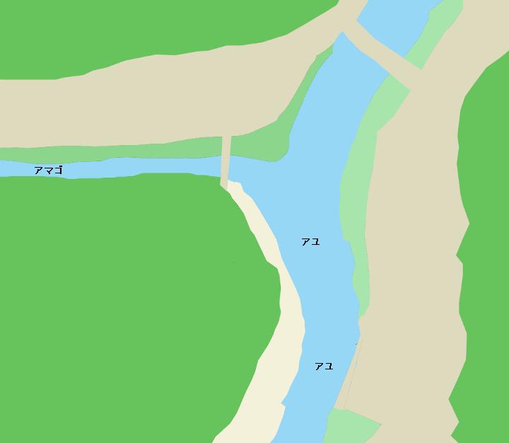 鏡川川口橋周辺のポイント