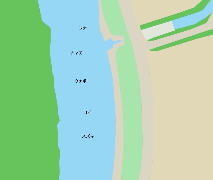 金目川撫子原緑地・水門周辺のポイント