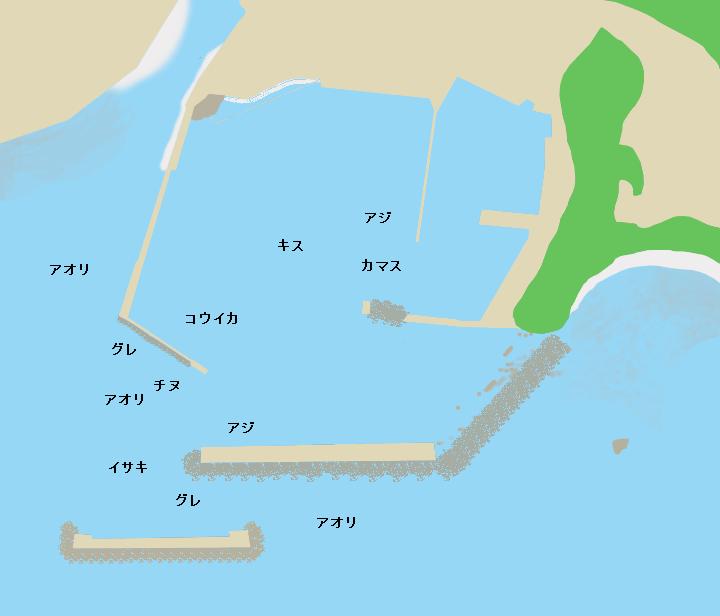 高知県幡多郡黒潮町上川口漁港のポイント