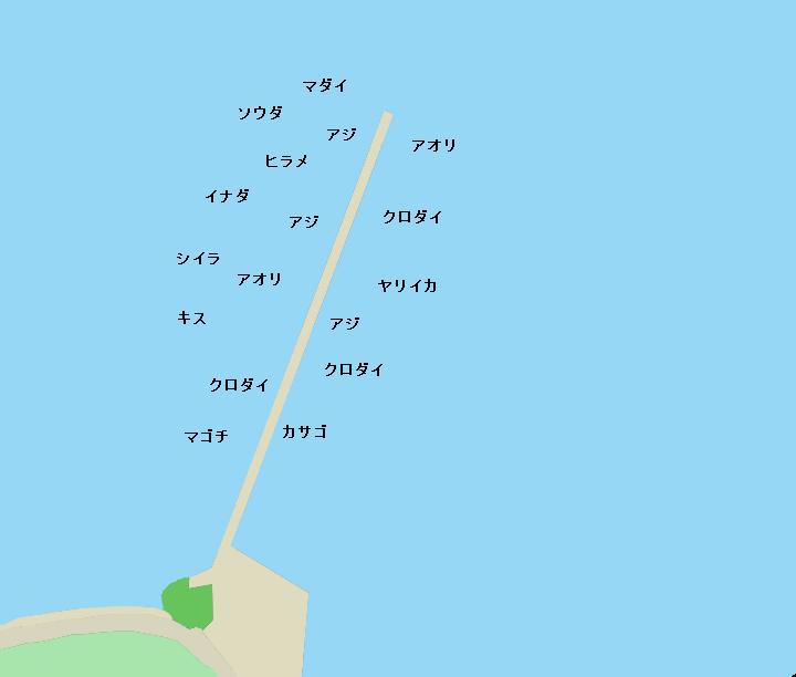 西浦木負堤防のポイント