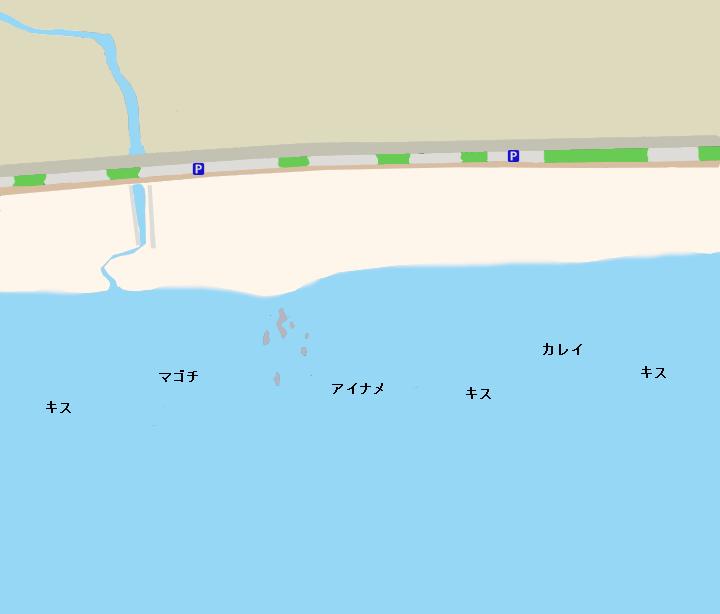 菊名海岸ポイント図