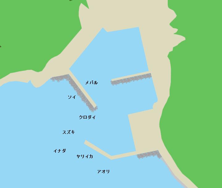 九艘泊漁港のポイント