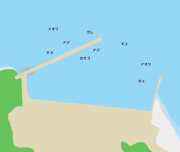 高知県須崎市中ノ島漁港のポイント