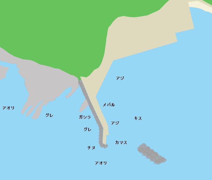 見草漁港ポイント図
