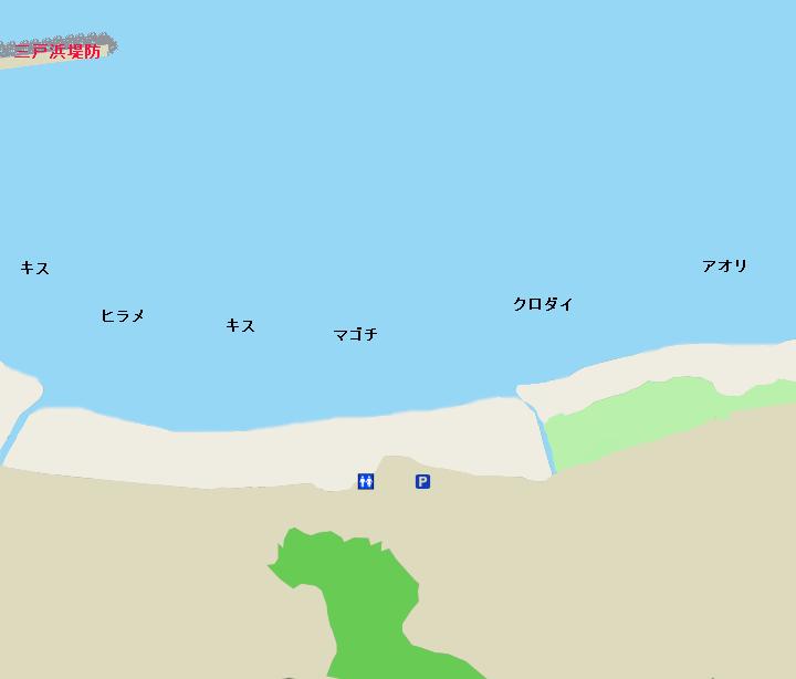 三戸海岸ポイント図