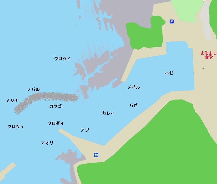 宮川港ポイント図