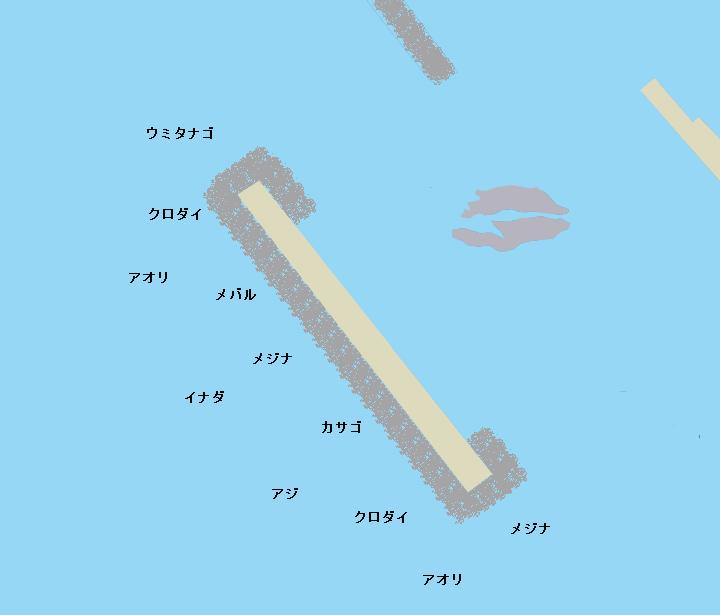 宮川港沖堤防ポイント図