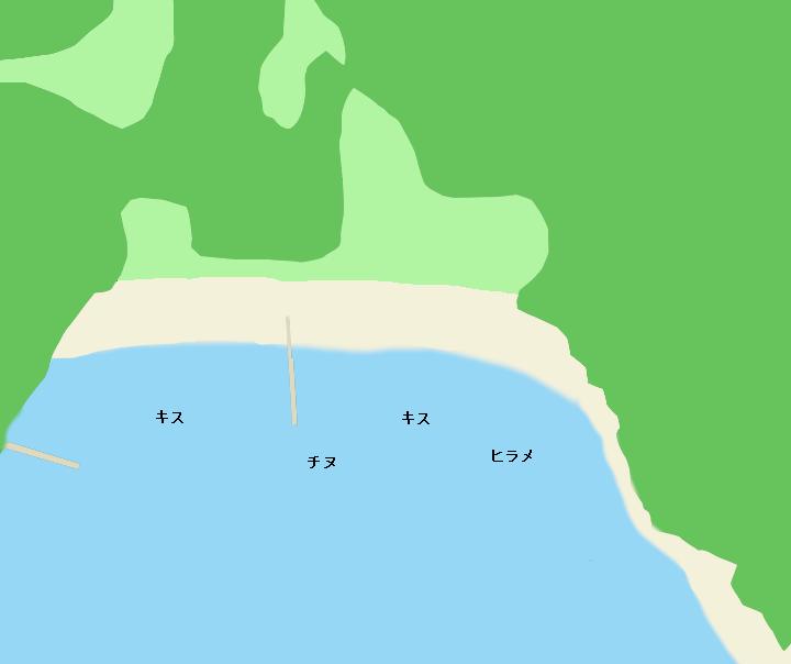 野見崎付近の海岸