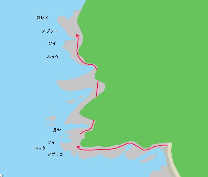 藻岩岬のポイント