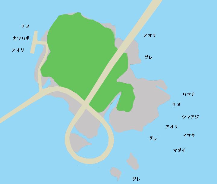 苗我島ポイント図