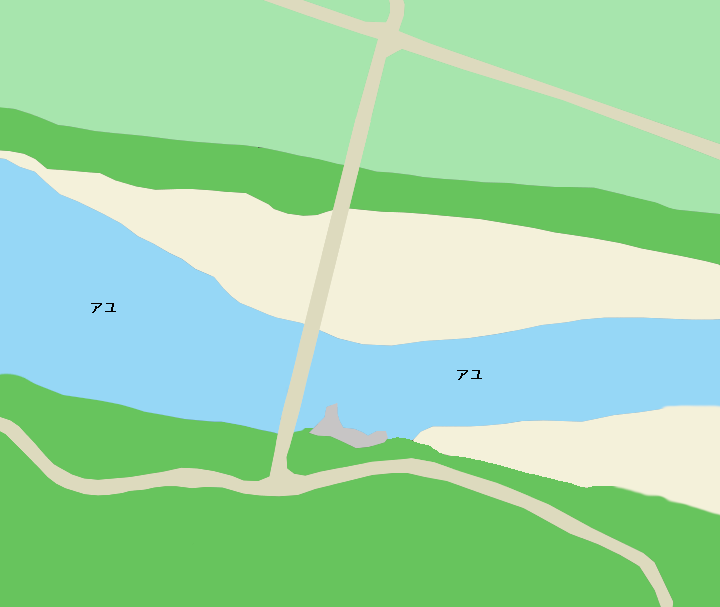 那賀川十八女大橋周辺のポイント