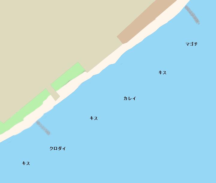 長沢海岸ポイント図