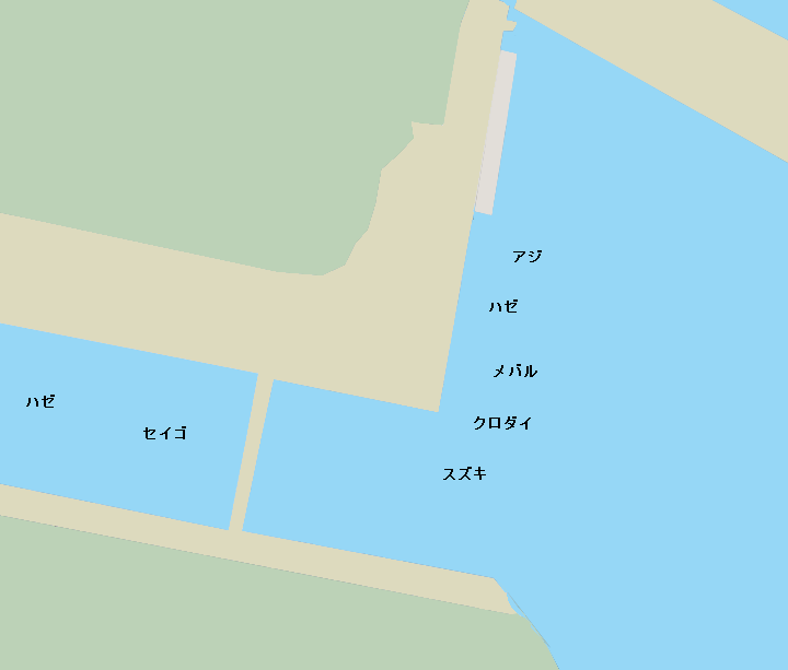 大岡川分水路河口(磯子日清オイリオ)ポイント図