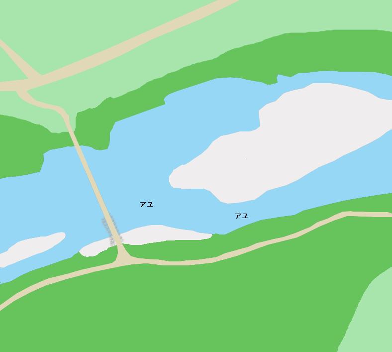 仁淀川片岡沈下橋付近のポイント