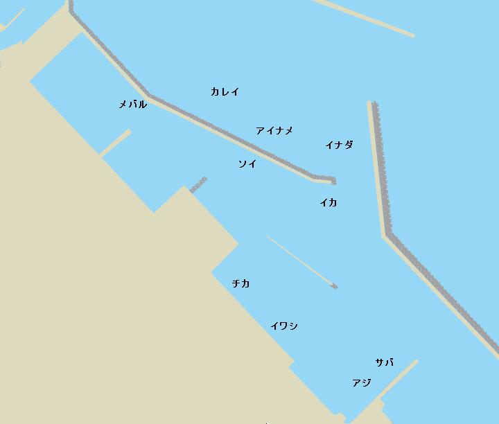大畑漁港ポイント図