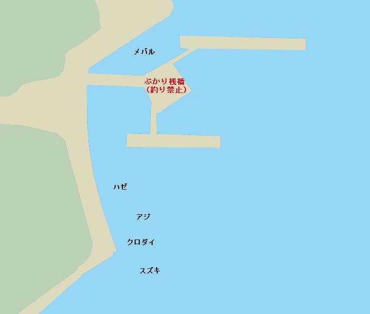 ぷかり桟橋周辺ポイント図