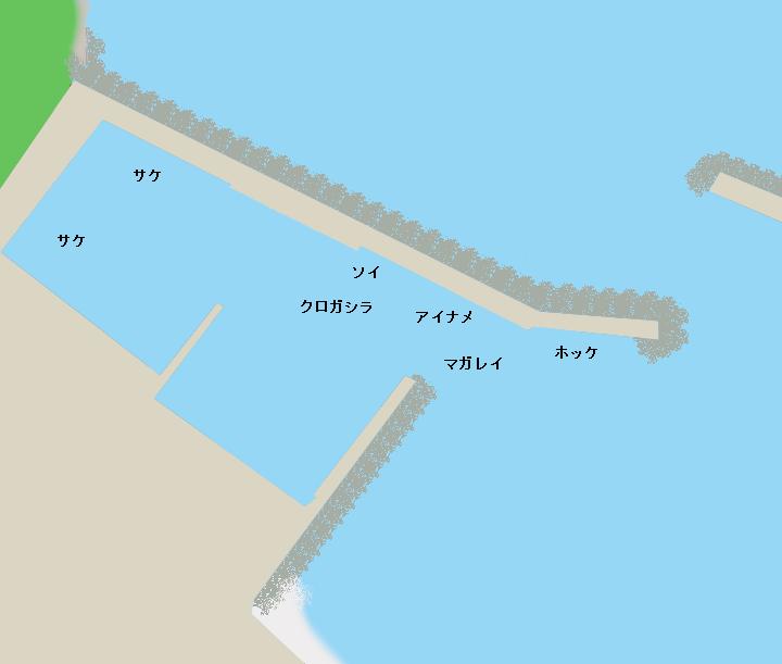 利尻島雄忠志内漁港のポイント